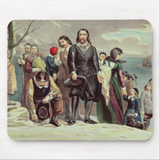 The Landing of the Pilgrims at Plymouth Mouse Pad