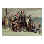 The Landing of the Pilgrims at Plymouth Poster