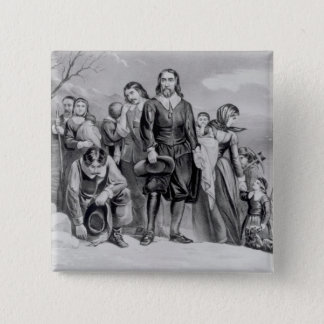 The Landing of the Pilgrims Button