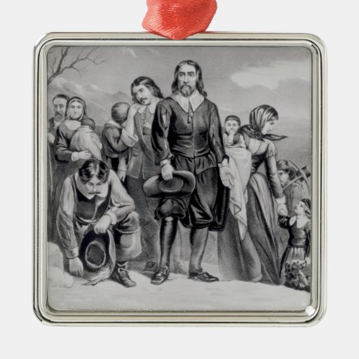 The Landing of the Pilgrims Ornament