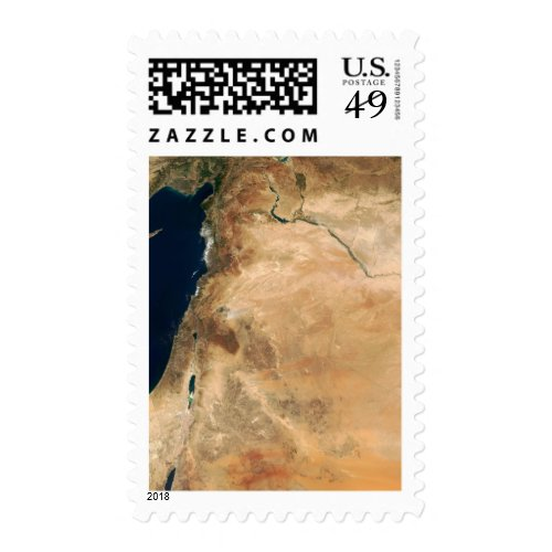 The lands of Israel along the eastern shore Postage