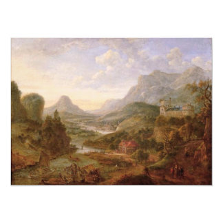 The Landscape of The Rhine 5.5x7.5 Paper Invitation Card