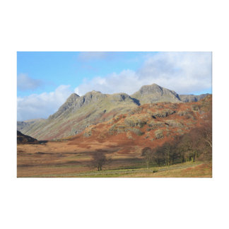 The Langdale Pikes, English Lake District Canvas Print