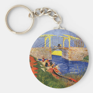 The Langlois Bridge at Arles with Women Washing by Keychain