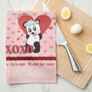 The Language of Love American MoJo Kitchen Towel kitchentowel