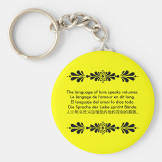 The Language of Love Basic Round Button Keychain