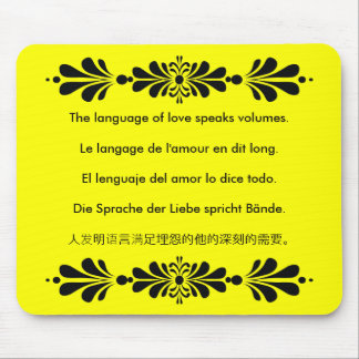 The Language of Love Mouse Pad