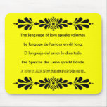 The Language of Love Mouse Pads