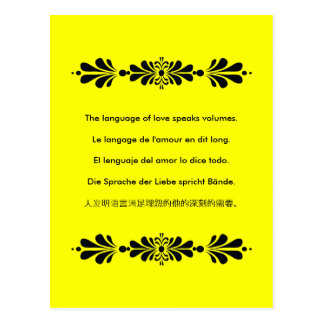 The Language of Love Postcard