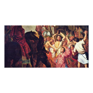 The Lapidation Of Saint Stephen. By Rembrandt Photo Cards