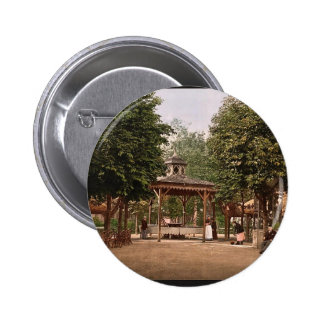 The Lardy Spring, Vichy, France vintage Photochrom Pinback Button