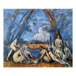 The Large Bathers by Paul Cezanne Poster