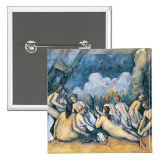 The Large Bathers, c.1900-05 2 Inch Square Button