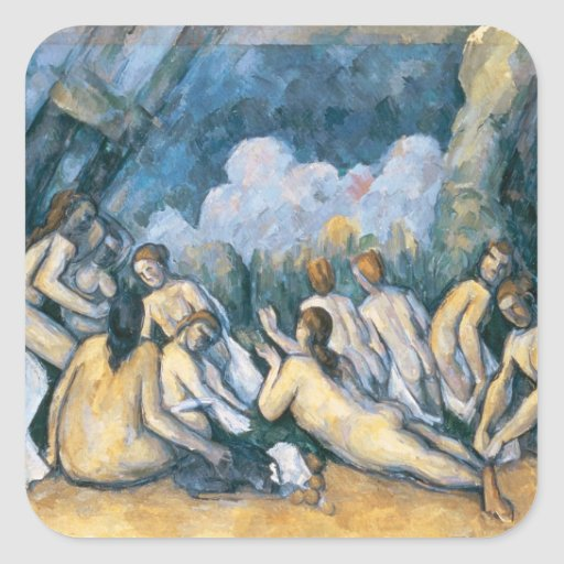 The large bathers square sticker zazzle for Design your own bathers