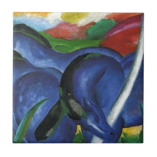 The Large Blue Horses by Franz Marc Ceramic Tile