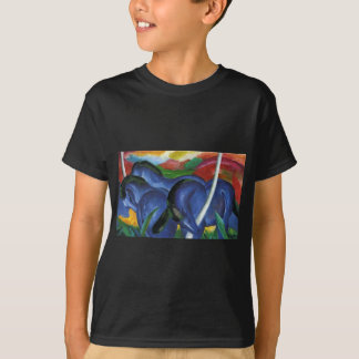 The Large Blue Horses by Franz Marc T-Shirt