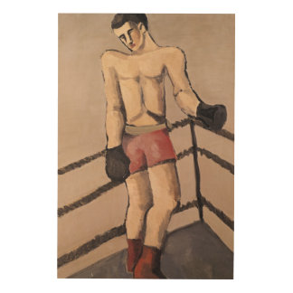 The Large Boxer Wood Wall Art