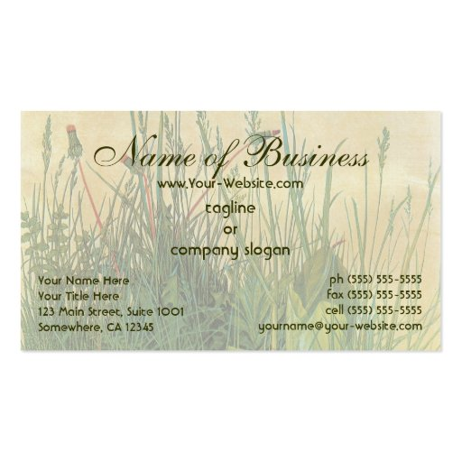 The Large (Great) Piece of Turf by Albrecht Durer Business Card