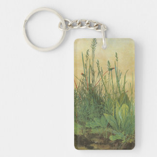 The Large (Great) Piece of Turf by Albrecht Durer Double-Sided Rectangular Acrylic Keychain