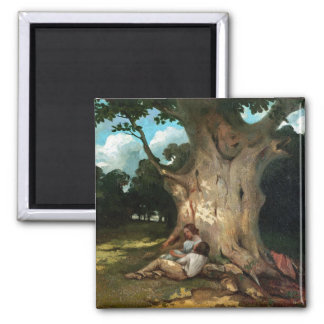 The Large Oak 2 Inch Square Magnet