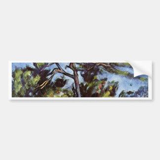 The Large Pine By Paul Cézanne (Best Quality) Car Bumper Sticker