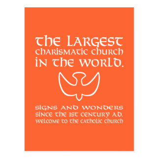 The Largest Charismatic Church in the world. White Postcard