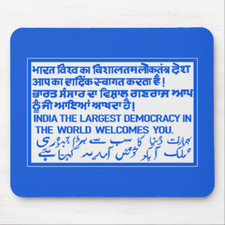 The Largest Democracy Sign, India Mousepad