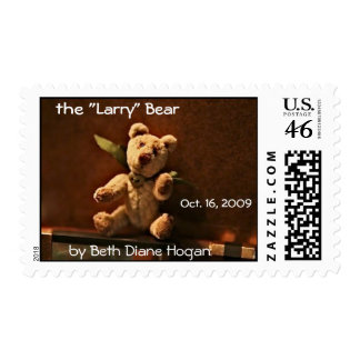 the Larry Bear by Beth Diane Hogan Postage Stamp