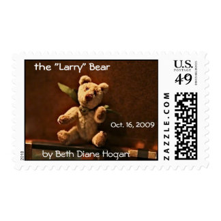 "the ""Larry"" Bear, by Beth Diane Hogan... Postage Stamp"