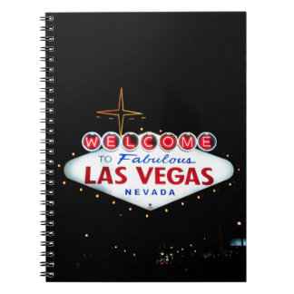 The Las Vegas Sign - Welcome To Fabulous Las Vegas Spiral Note Book