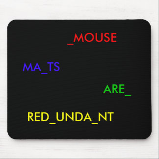 The laser mouse cometh mouse pad