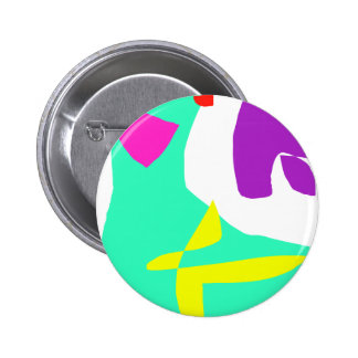 The Last and the First Message in Paints 2 Inch Round Button