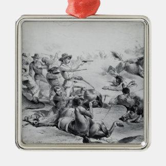 The Last Battle of General Custer Metal Ornament