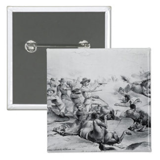 The Last Battle of General Custer Pinback Button
