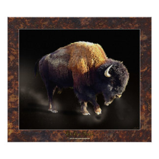 The Last Buffalo Wildlife History Fine Art Poster