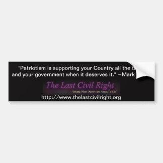 The Last Civil Right Mark Twain Bumper Sticker