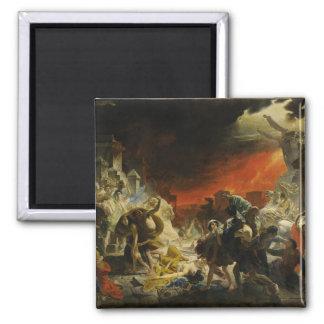 The Last Day of Pompeii by Karl Briullov Vesuvius 2 Inch Square Magnet
