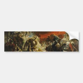 The Last Day of Pompeii by Karl Briullov Vesuvius Bumper Sticker