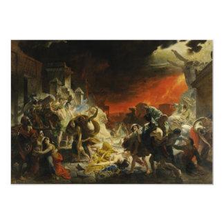 The Last Day of Pompeii by Karl Briullov Vesuvius Card