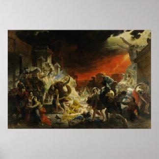 The Last Day of Pompeii by Karl Briullov Vesuvius Poster