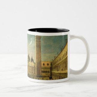 The Last Day of the Carnival, St. Mark's Square, V Two-Tone Coffee Mug