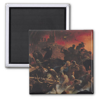 The Last Days of Pompeii 2 Inch Square Magnet