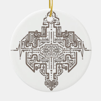 The Last Grid Ceramic Ornament