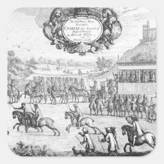 The Last Horse Race run Square Sticker