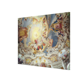 The Last Judgement, ceiling painting Canvas Print