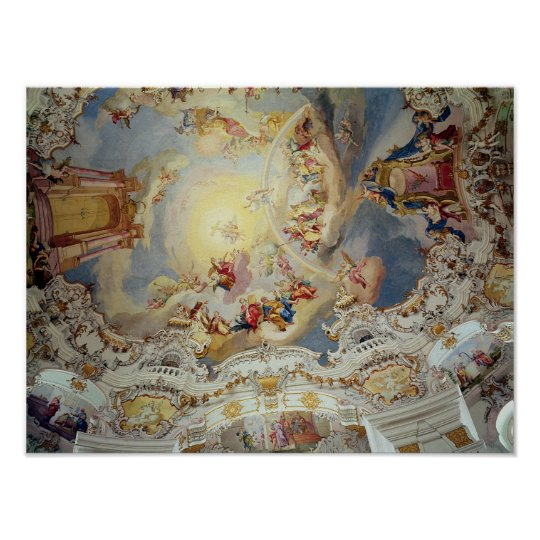 The Last Judgement, ceiling painting Poster