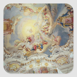 The Last Judgement, ceiling painting Square Sticker