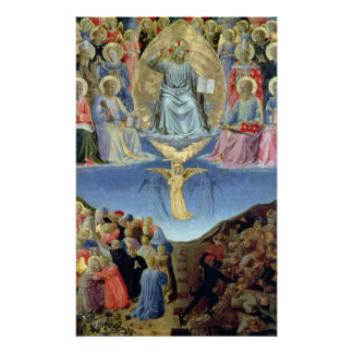The Last Judgement, central panel from a Triptych Poster