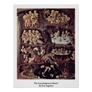The Last Judgement Detail By Fra Angelico Poster