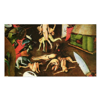 The Last Judgement (detail) by Hieronymus Bosch Double-Sided Standard Business Cards (Pack Of 100)